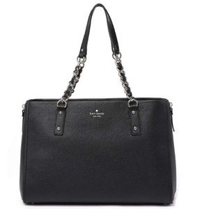 kate spade cobble hill andee black leather satchel